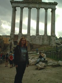 Jule im Forum Romanum