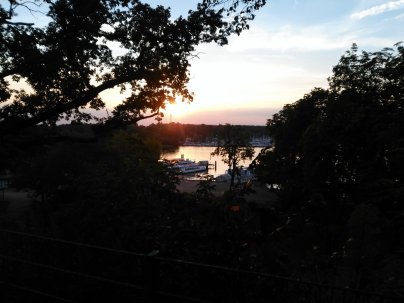 Wannsee im Abendrot